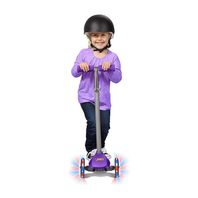 549PPZ Radio Flyer 549BZ Lean 'N Glide Kids 3-Wheel Scooter w/ Light Up Wheels, Purple 3