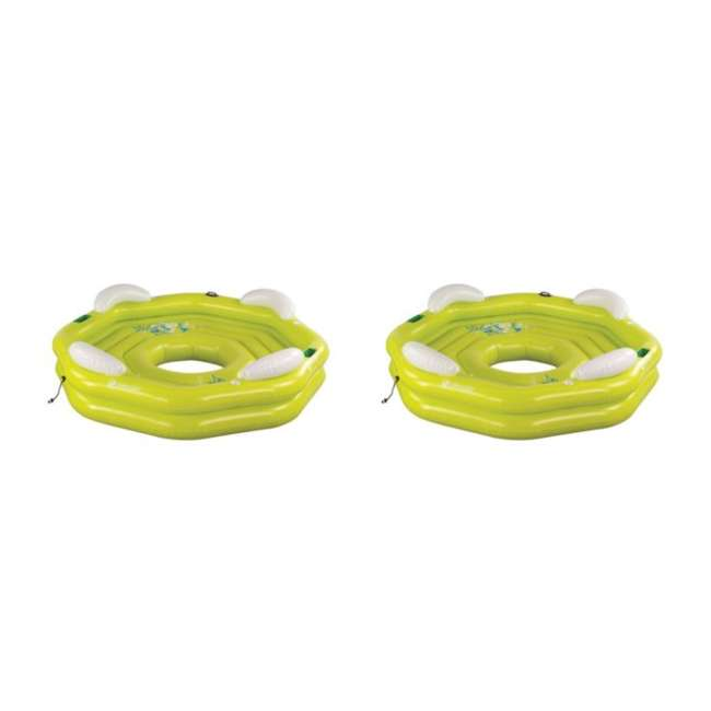 2000003347 (2) Sevylor 3347 Party Island Inflatable Lake Pool Tubes - 96-Inch Diameter