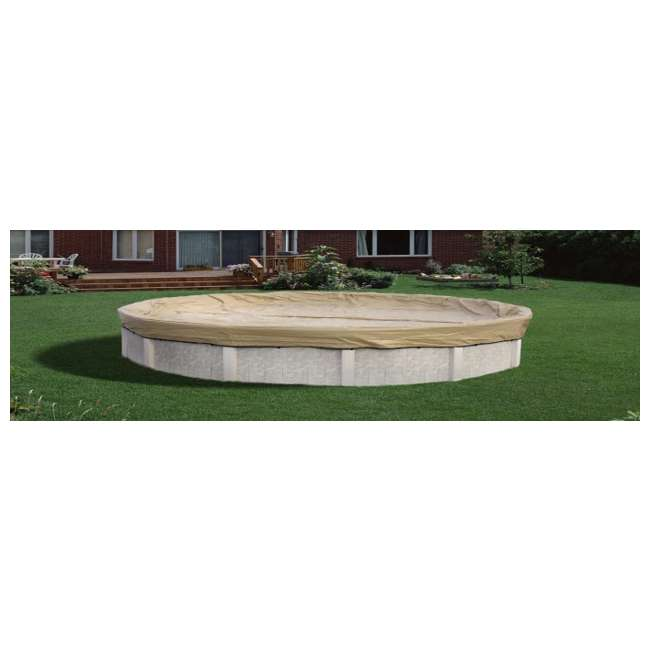Armor Kote 16x32 Tan Winter Oval Above Ground Swimming Pool Cover ...