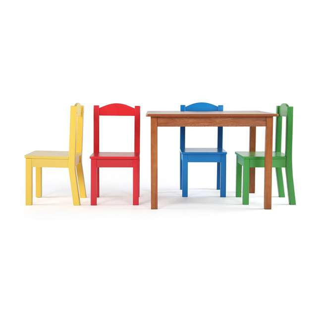 TC633 - Highlight Humble Crew Friends Highlight Collection Cedar Wood Table & 4 Primary Chair Set 2
