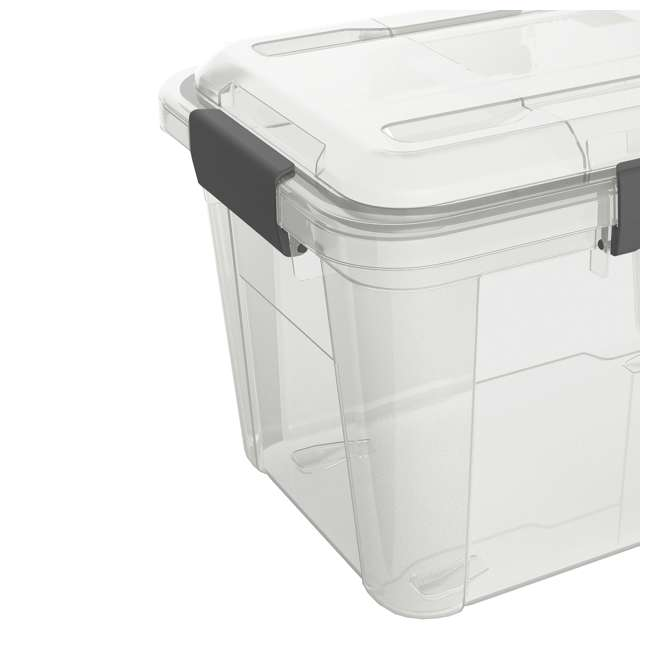 6 x FBA32225 Ezy Storage Weather Proof IP65 18 Liter Plastic Storage Container w/Lid (6 Pack) 2