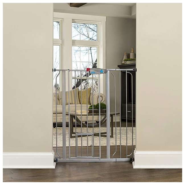 """0941 PP DS Carlson Pet Products 36"""" Extra Tall Expandable Pet Gate, Platinum"""