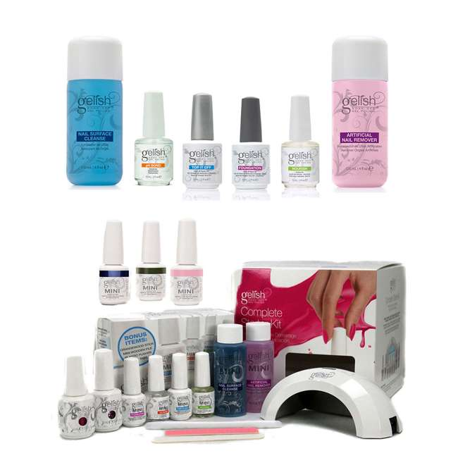 1900114-START3KIT + 1900104-FULLBASIX Gelish Mini Harmony Complete Starter Gel Nail Kit & Basix Care Kit 4