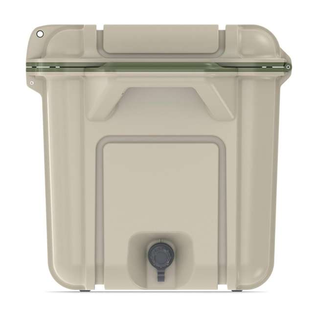 77-54869 OtterBox Venture Heavy Duty Outdoor Camping Fishing Cooler 65-Quarts, Tan/Green 7