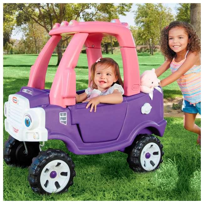 642777M-U-A Little Tikes Pink and Purple Princess Cozy Kids Ride On Truck (Open Box) 7