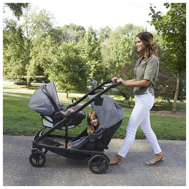 2032495 Graco UNO2DUO Baby Single Double Stroller & Infant Car Seat Travel System, Hazel 5