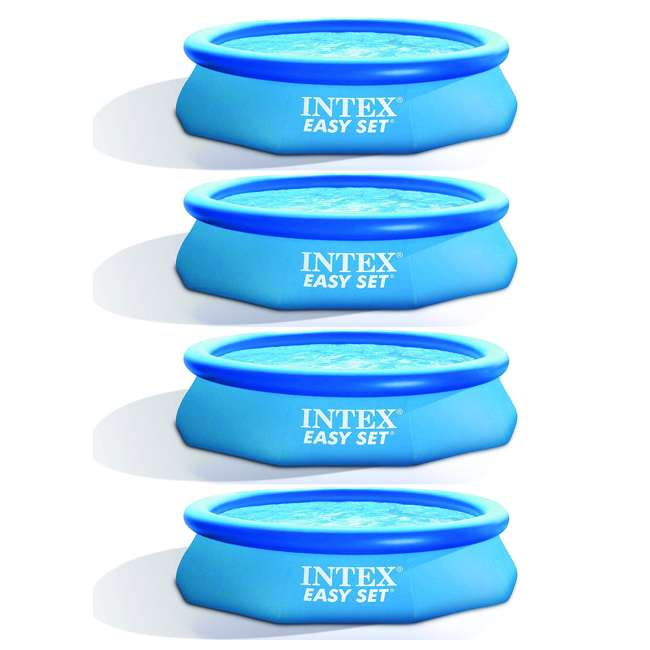 4 x 28120EH Intex Easy Set 10ft x 30ft x 30in Above Ground Inflatable Round Swimming Pool (4 Pack)