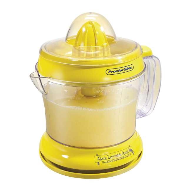 66331 + 0480 Proctor Silex 66331 34-oz. Countertop Lemonade Stand Citrus Lemon/Fruit Juicer 4