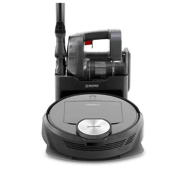 DEEBOTR98-U-C Ecovacs DEEBOT Robotics Bagless Multi Surface Vacuum & Mop, Black (For Parts) 4