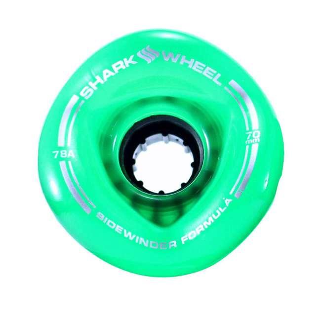 1000S70MMS78ATG Shark Wheel Sidewinder 70mm 78A Skateboard Wheels, Green 1