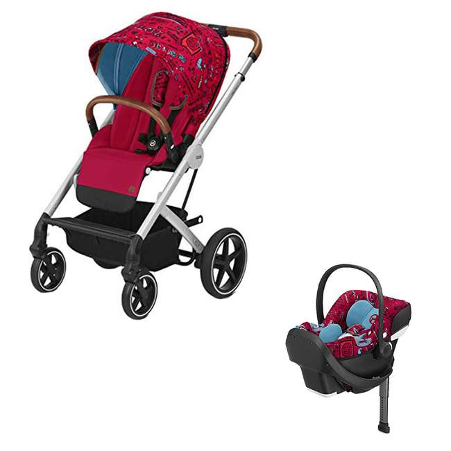 519000423 + 519001473 Cybex Balio Convertible Baby Infant Baby Stroller & Rear Facing Infant Car Seat