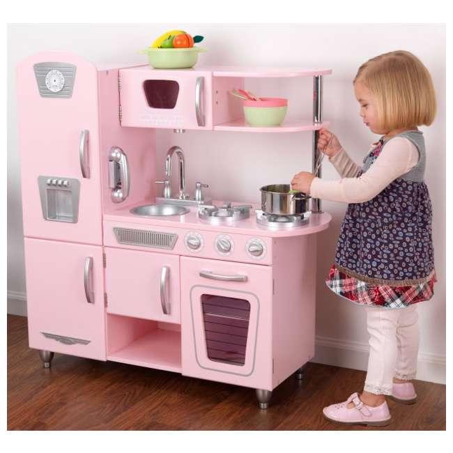 Kidkraft vintage kitchen pink 53179 for Cuisine kidkraft retro