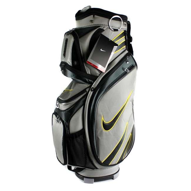 BG0218-017  Nike M9 Golf Bag Adult Cart Style Bag – 14 Way Top Divider Grey & Yellow Color 2
