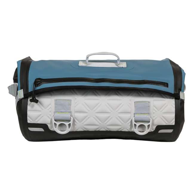 77-57796 Yampa 70 Liter Dry Duffle Waterproof Backpack Bag, Hazy Harbor Gray and Blue 2