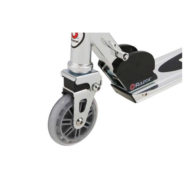 13003A2-RD + 13003A2-CL Razor A2 Kid Folding Aluminum Portable Kick Push Scooter w/ Wheelie Bar (2 Pack) 11