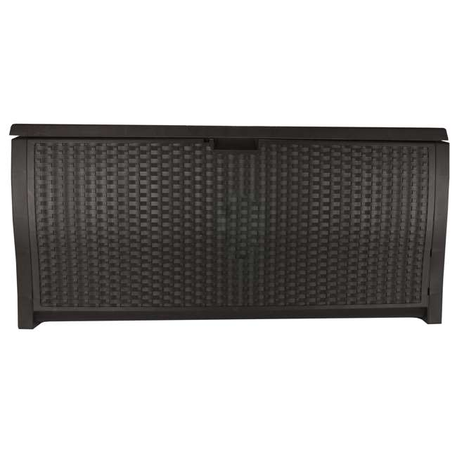 FSW4423 + DBW9200 Suncast Backyard Patio Screen Gate w/ Backyard Patio Garden Garage Wicker Resin 9