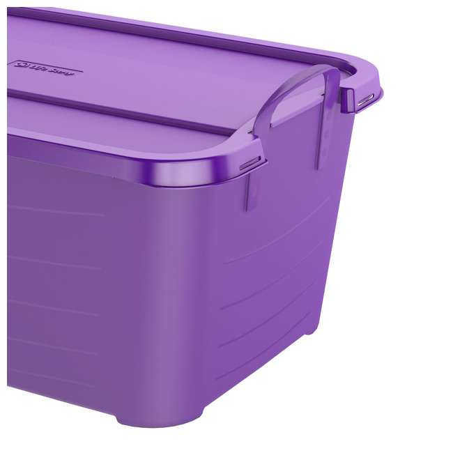 CS55PP-SOLID-U-A Life Story 55 Quart Locking Stackable Storage Container, Purple (Open Box) 2