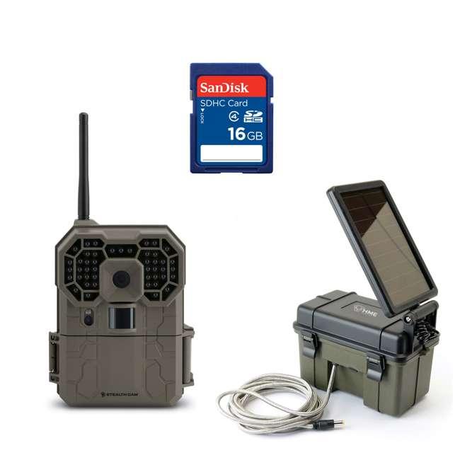 STC-GX45NGW + SD4-16GB-SAN + HME-12VBBSLR Stealth Cam GXW & 16GB SD Memory Card & HME Power Pack