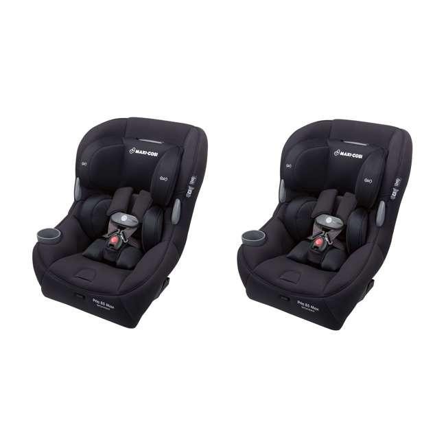CC213EMJ Maxi-Cosi Pria 85 Max Convertible Car Seat, Night Black (2 Pack)