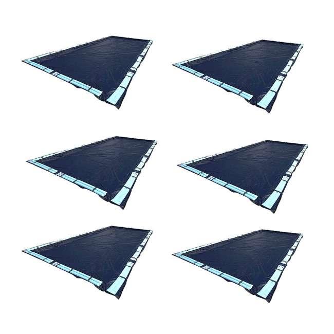 6 x S1632RC Swimline 16x32 Feet Blue Winter Rectangular Swimming Pool Cover (6 Pack)