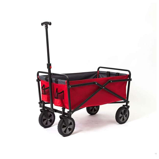 SUW-300-RED-GRAY-U-A Seina Collapsible Steel Frame Utility Wagon Outdoor Cart, Red (Open Box)(2 Pack) 5