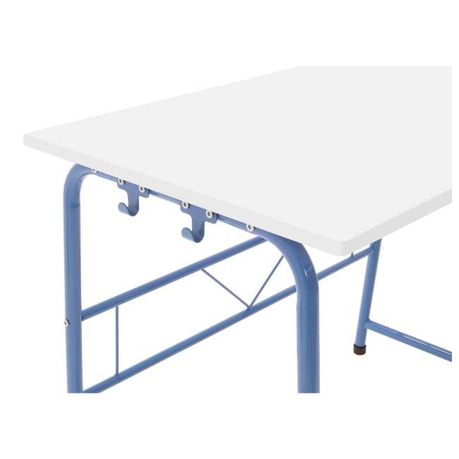 38022 Studio Designs Homeroom 2 Piece Art Table & Bench Set w/ Paper Roll, Blue/White 5