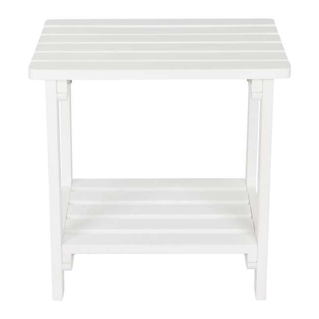 SHN-4104WT Rectangular 19-Inch Side Table, White 1