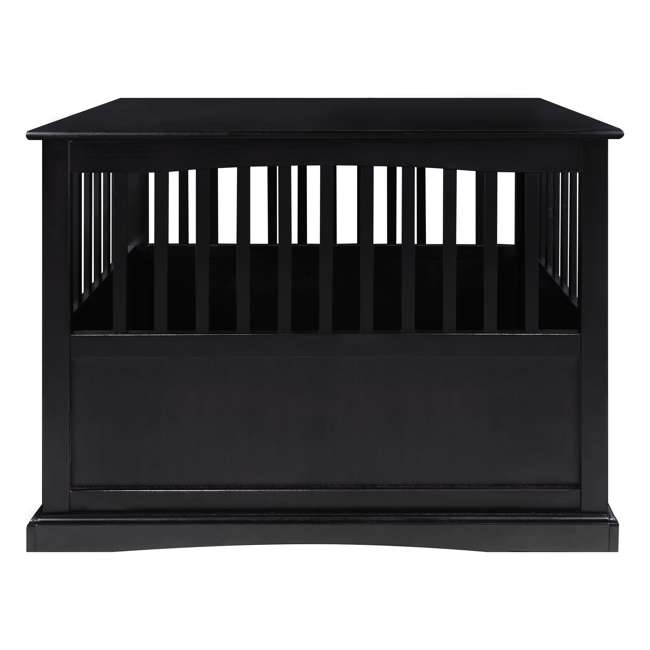 600-22 Casual Home Large Pet Crate End Table, Black 2