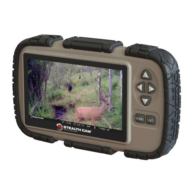 """STC-CRV43-U-C Stealth Cam 4.3"""" LCD Game Photo Viewer & SD Card Reader for Hunting (For Parts)"""