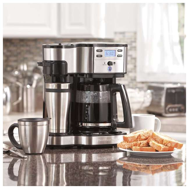 49980A-U-C Hamilton Beach 2 Way Coffee Maker with 12 Cup Carafe and Pod Brewing (For Parts) 1