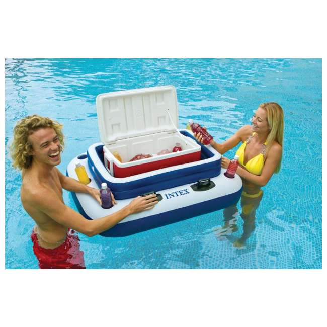 4 x 58821EP-U-A INTEX Mega Chill II Inflatable Floating Beverage Cooler  |   (Open Box) (4 Pack) 1