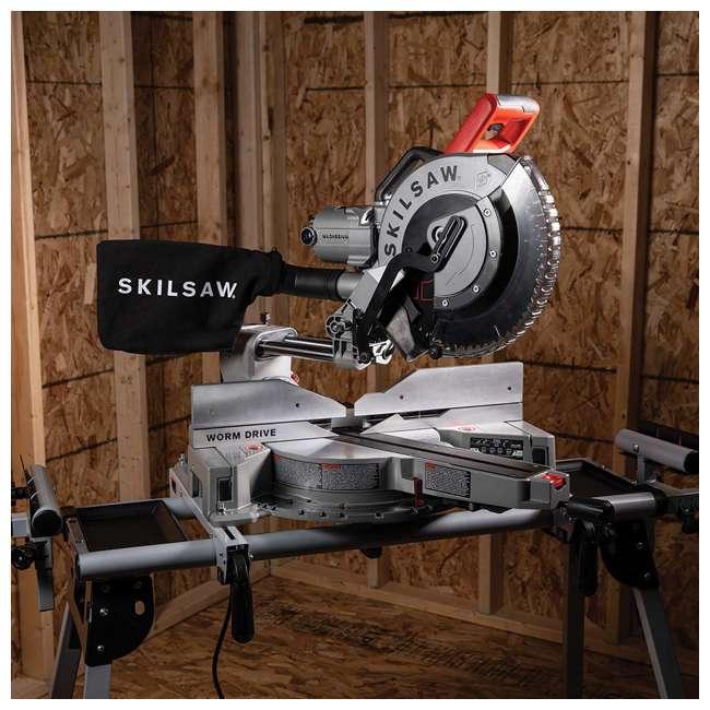SPT88-01 SKILSAW SPT88-01 12 Inch Blade 15 Amp Worm Drive Dual Bevel Sliding Miter Saw 6