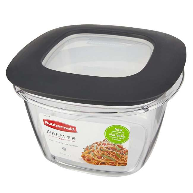 1951296 Rubbermaid Premier Easy Find Lids Clear Storage Containers  (2 Pack) 3