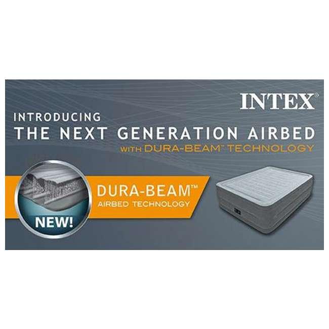 64417E Intex Dura-Beam Air Bed Mattress w/ Built-In Pump, Queen (Used) (2 Pack) 10