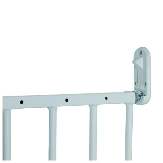 BBD-57314-5400 BabyDan MultiDan Wall Mount 24.6-42 Inch Doorway Safety Baby Gate, White Metal 3