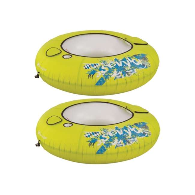 2000015101 2 Sevylor 3355 Inflatable Floating River Tube with Cooler (Pair)