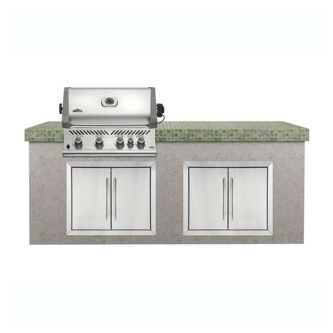 BIP500RBNSS-2 Napoleon 31'' Prestige 500 Built In Stainless Steel 4 Burner Gas Grill Head (2 Pack) 2