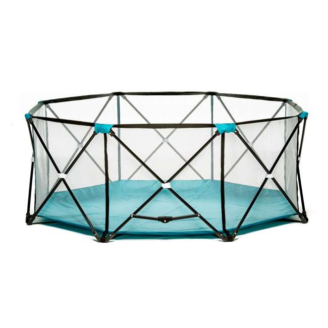 """1385 DS Regalo 8 Panel 62"""" x 26"""" My Play Deluxe Portable Mesh Foldable Play Yard (Used)"""