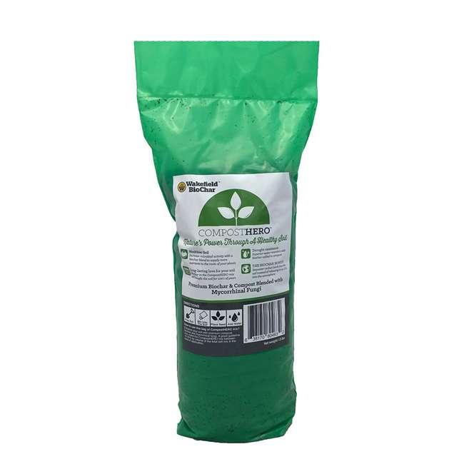 WFBCSC-1LB + WFHERO-CMP-1LB Wakefield 1 lb Biochar Organic Soil Conditioner and 1.5 lb Organic Compost 8