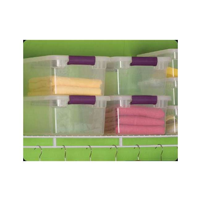 36 x 17531712-U-A Sterilite 15-Quart ClearView Latch Storage Tote Container (Open Box) (36 Pack) 4