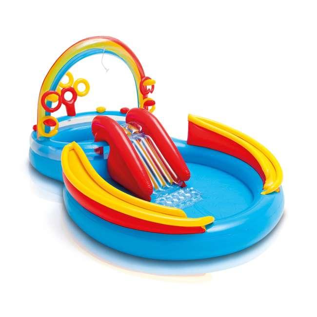 57454EP + 2 x 57453EP Intex Inflatable Ocean Kiddie Pool (2 Pack) & Intex Rainbow Ring Pool (2 Pack) 2
