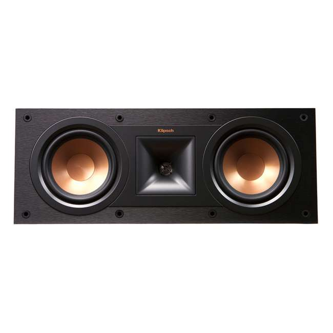 R-25C - RB Klipsch R-25C Powerful Small Aluminum Black Center Channel Speaker, Refurbished 2