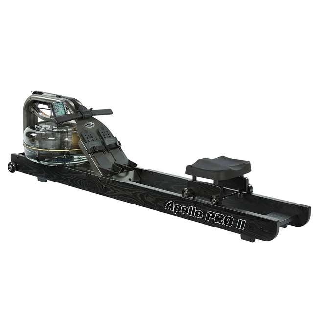 APPRO2B First Degree Fitness Indoor Water Rower with Adjustable Resistance - Apollo Pro II Black Reserve