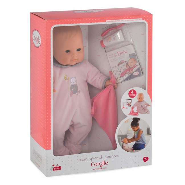 FPK17 Corolle Mon Grand Poupon Eloise Doll Goes to Bed Toy Set with 4 Accessories 4
