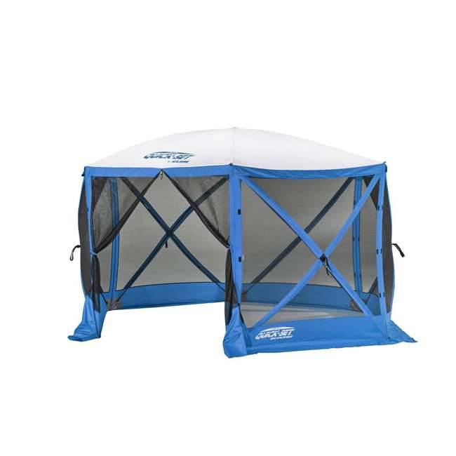 CLAM-ESS-14201 + CLAM-WP-ESS-14205 Clam Quick Set Tailgating Shelter + Wind & Sun Panels (3 pack) 1