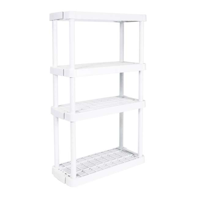 3 x GL91072MAXIT-1C Gracious Living 4-Tier Garage Storage Shelf, White (3 Pack) 1