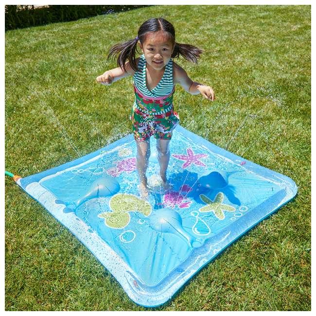 WMO-61850 Wham-O Backyard Sea Creature Printed Children's Splash Pad with Inflatable Rim 4