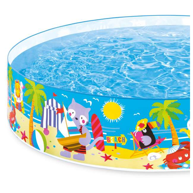 58457EP-U-A Intex Seahorse Kids 8 Foot Instant SnapSet Swimming Pool (Open Box) (2 Pack) 4