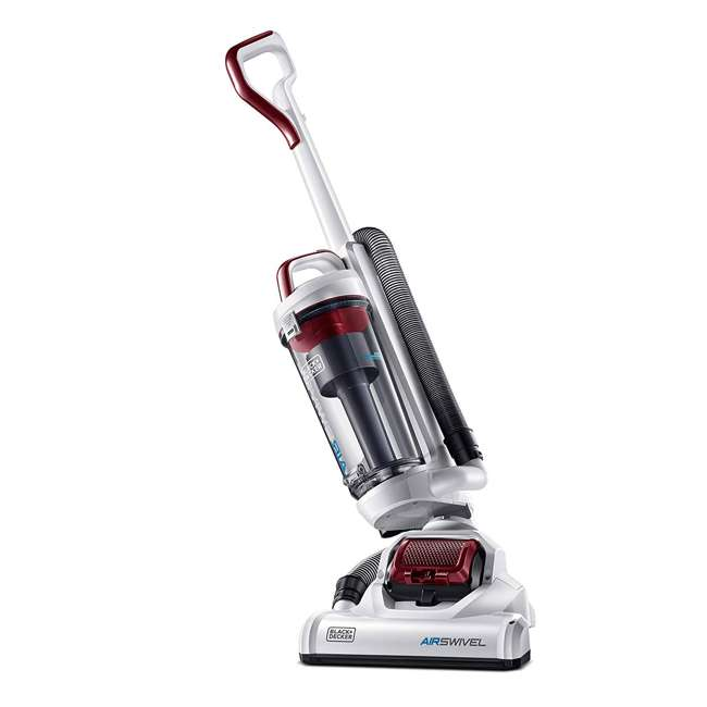 BDASP103 Black and Decker AirSwivel Upright Bagless Pet & Home Vacuum Cleaner, White 1