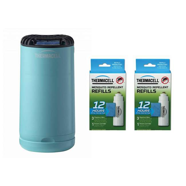 MRPSB Thermacell Outdoor Insect Repeller & 12-Hour Mosquito Repellent Refill (2 Pack)